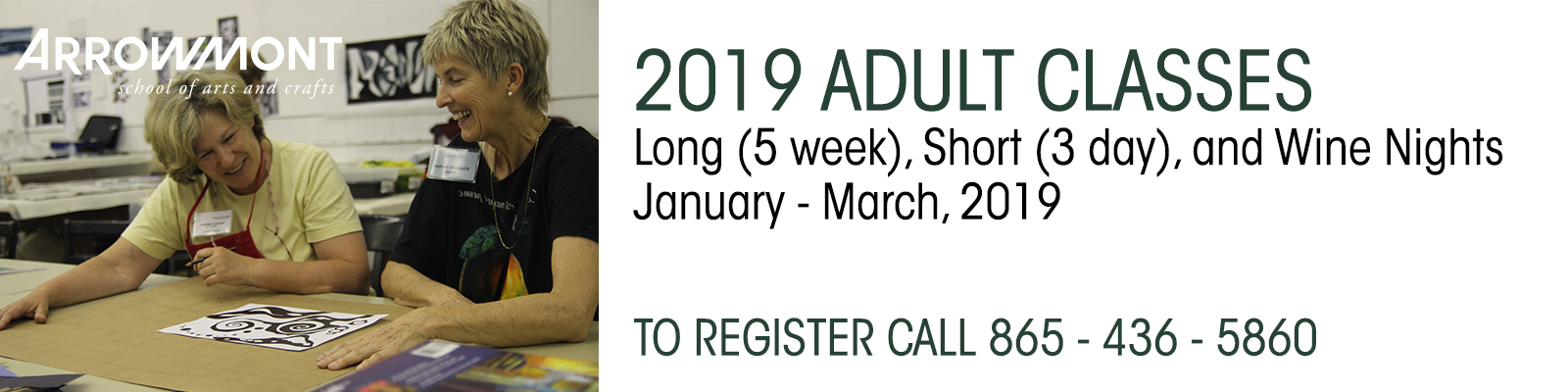 2019 Adults Classes - Arrowmont School of Arts and Crafts