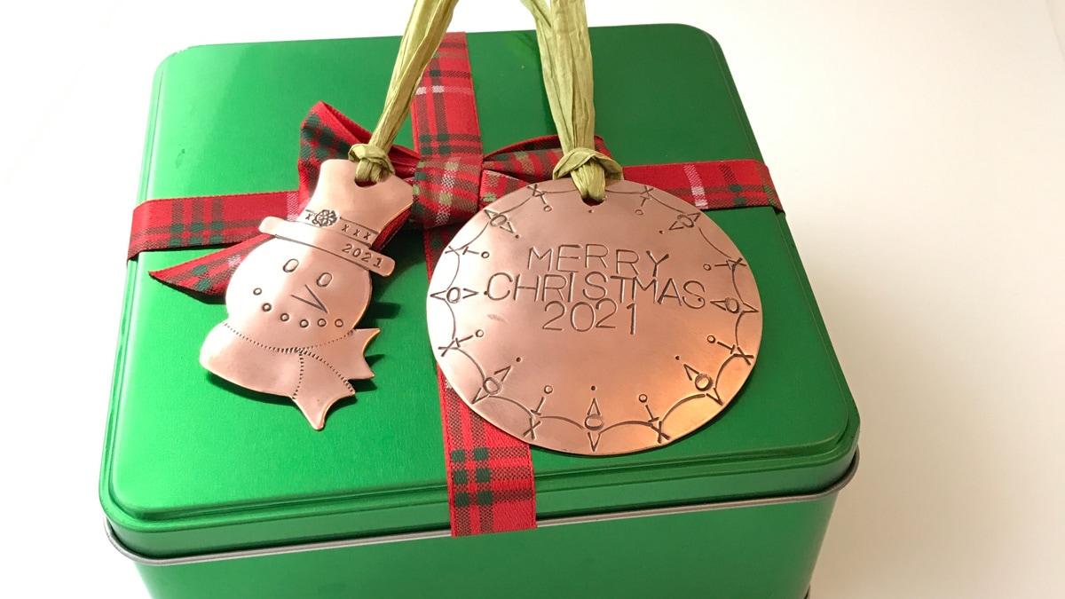 Metal Stamped Ornaments